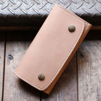 BYKING WALLET バイキング ウォレット 栃木レザー -SHELLY- [NATURAL] BK1008