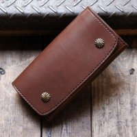 BYKING WALLET バイキング ウォレット 栃木レザー -SHELLY- [BROWN] BK1008