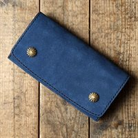 BYKING WALLET バイキング ウォレット FORTYNINERS別注スウェードレザー -SHELLY- [RUST BLUE] BK1008SU