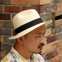 ダッパーズ DAPPER'S パナマハット -EL SOMBRERO W-Name  -Panama Hat-  [NATURAL] LOT1323