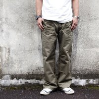 ダッパーズ  DAPPER'S CLASSICAL DOUBLE POCKET WORK PANTS[L.OLIVE×OLIVE] Lot 1410●モデル:177cm 80kg サイズw34