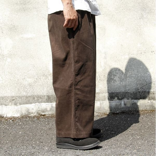 画像2: COMFY コムフィ WIDE ROCKER PANTS [BROWN CORDUROY]